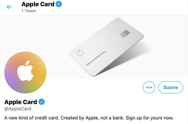 Apple Card : voici le compte Twitter officiel
