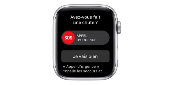 Apple Watch - détection de chutes