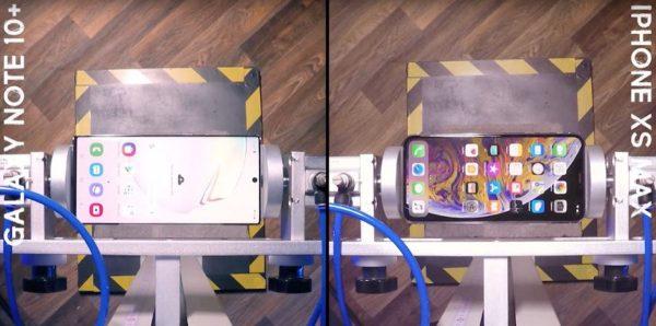 Drop test : Galaxy Note 10+ vs iPhone XS Max