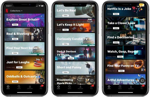 Netflix : nouvelle fonction « Collections »