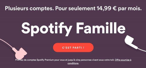 Spotify - plan Premium Famille
