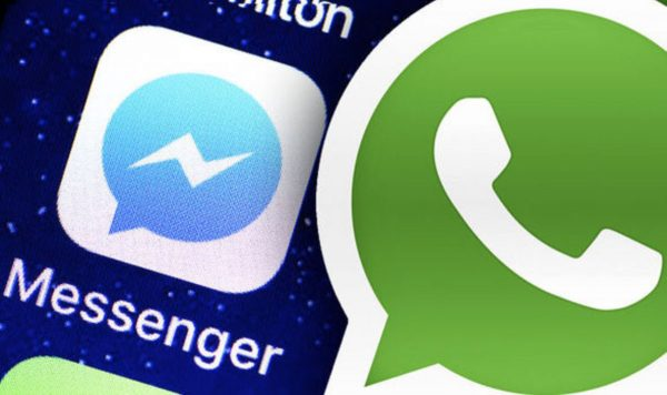 iOS 13 sous Messenger et WhatsApp