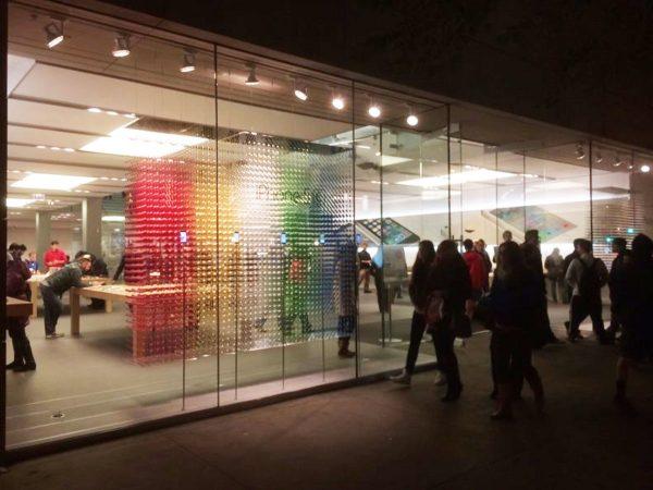 Apple Store - concept de fenêtres 3D