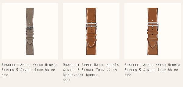 Apple Watch Serie 5 - Bracelets Hermès