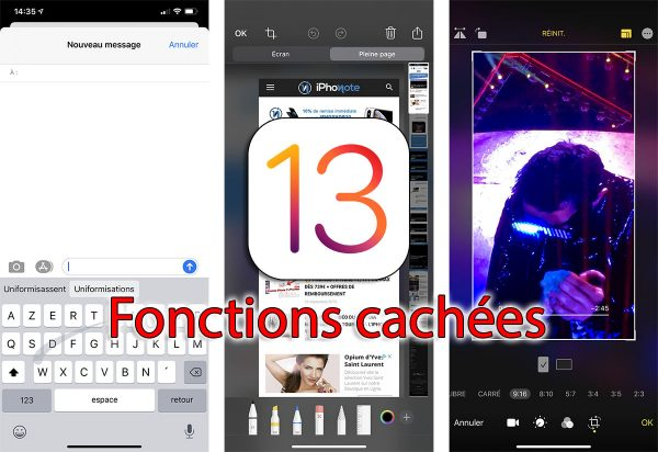 iOS 13 - fonctions cachées