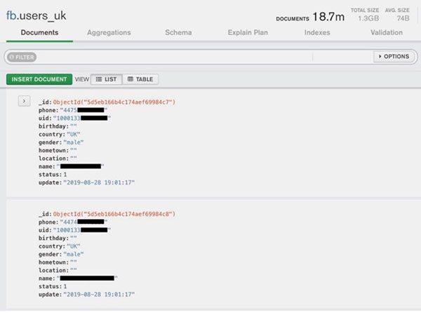 Facebook : fuite de centaines de millions de numéros de téléphone