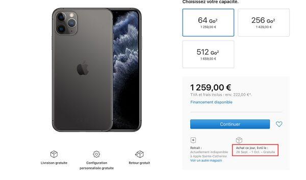 Retard livraison iPhone 11 Pro/Max
