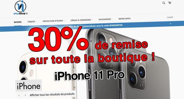 🔥 Promos iPhoShop : -30% sur vos accessoires iPhone 11/Pro/Max et plus 😱
