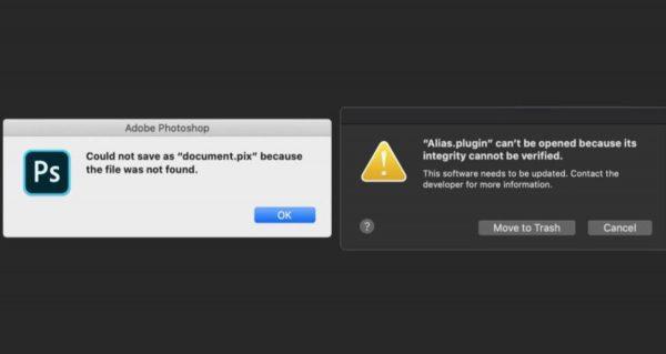 macOS Catalina - problèmes avec Photoshop