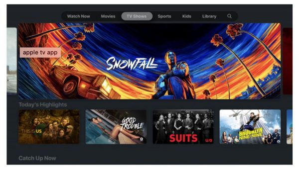 application Apple TV sur les Smart TV Sony