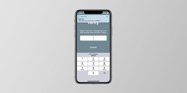 iOS : remplissage automatique du code