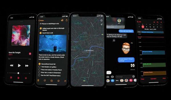 iOS 13 - mode sombre