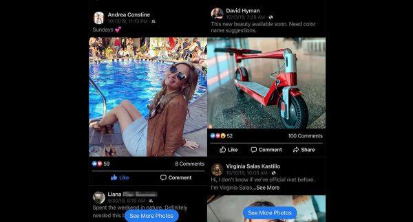 Facebook au look Instagram