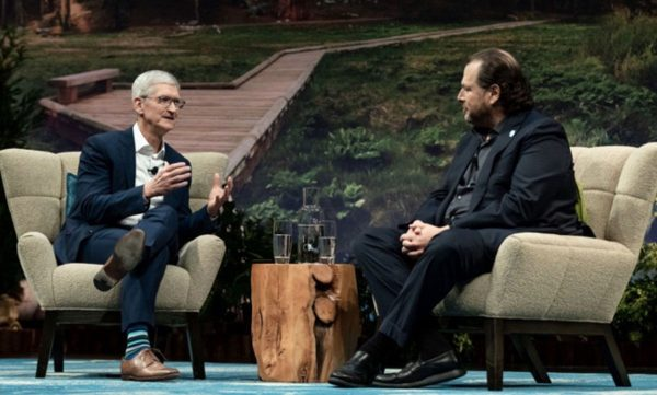 Tim Cook & Marc Benioff