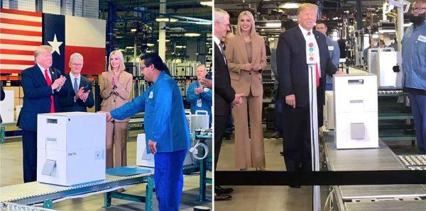 Tim Cook et Donald Trump - Mac Pro - usine Texas