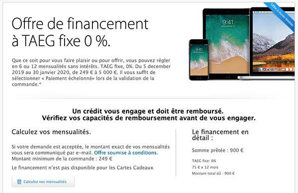 Apple financement