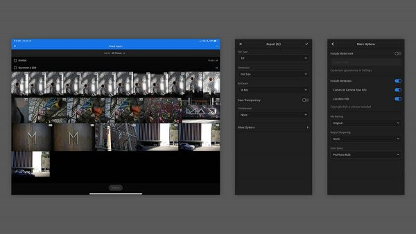 Lightroom pour iPad