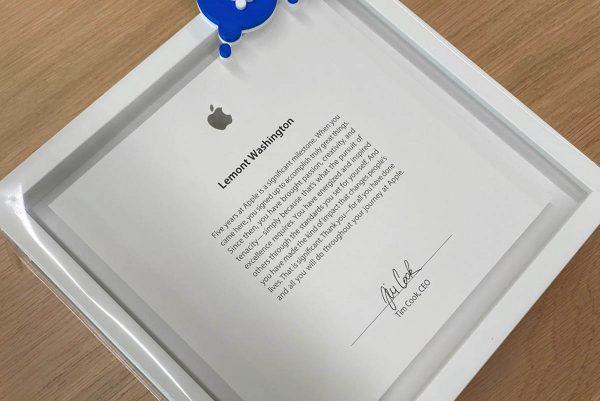 Plaque Apple - 5 ans