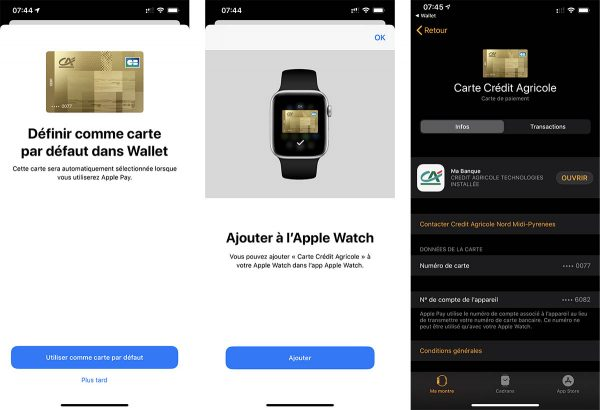 Crédit Agricole Apple Pay