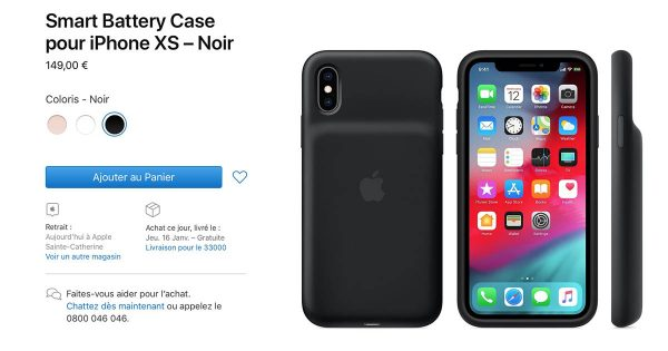Smart Battery Case pour iPhone XS