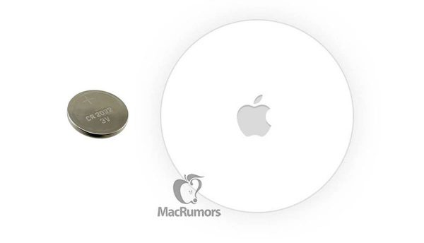 Apple AirTag - pile bouton