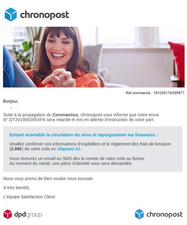 faux mails Chronopost