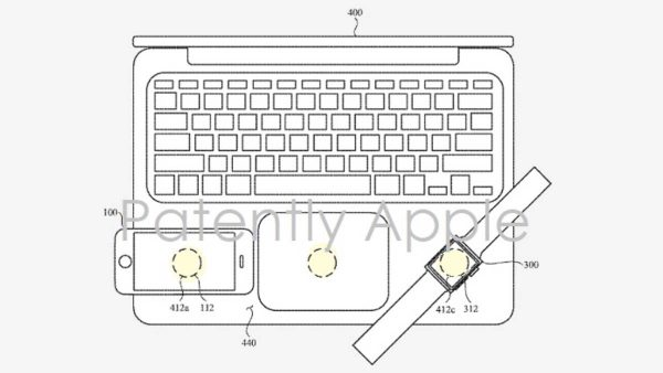 MacBook charge sans fil inversée