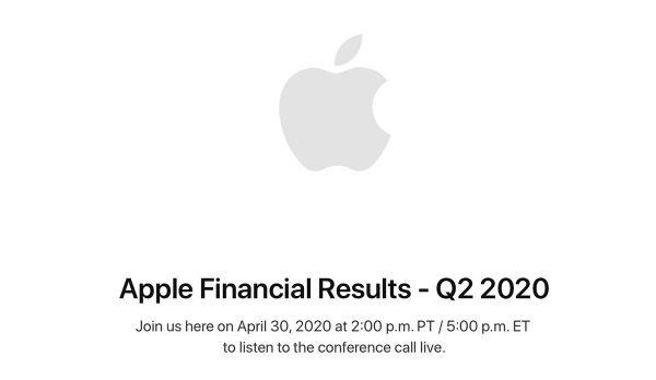 conférence financière Apple