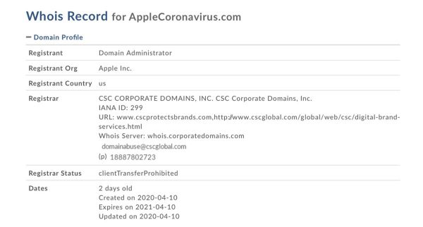 AppleCoronavirus.com