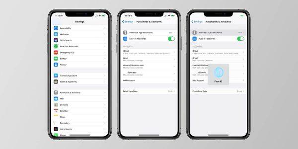 iOS 14 - gestionnaire de mot de passe