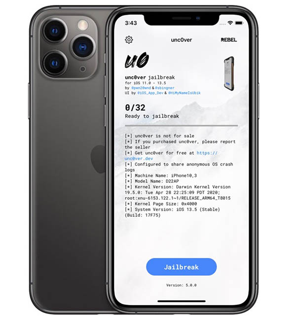 Jailbreak iOS 13.5 (Unc0ver)