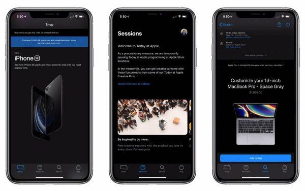 Apple Store - mode sombre