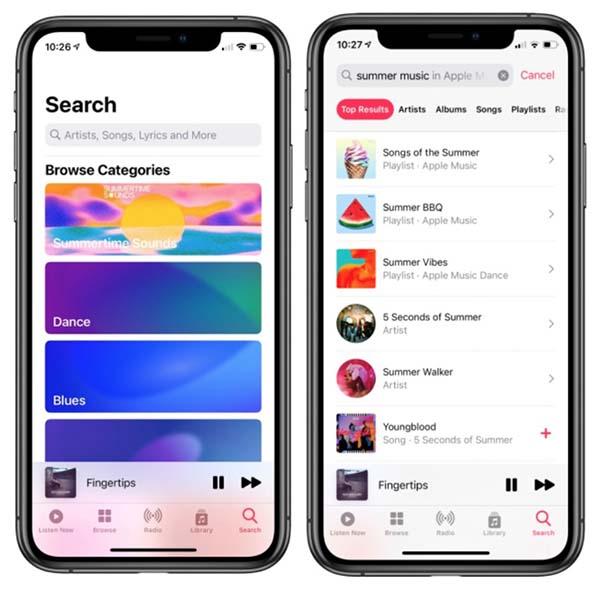 iOS 14, Apple Music
