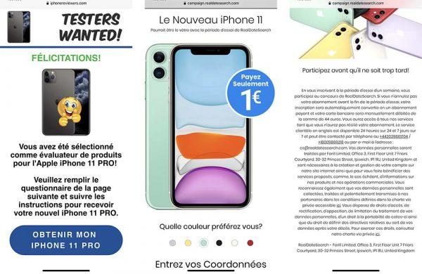 arnaque iPhone