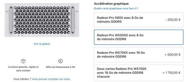 Mac Pro - Radeon Pro W5500X