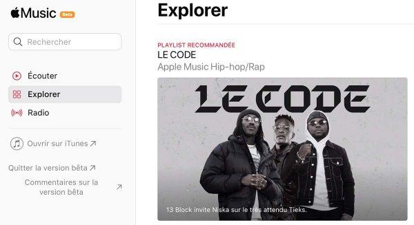 La version Web est de retour avec quelques changements — Apple Music