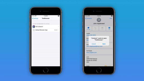 iOS 14 - apps par défaut
