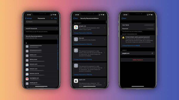 iOS 14 - trousseau iCloud