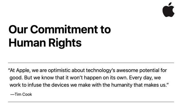 Apple droits de l'homme