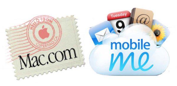 e-mail @mac.com et @me.com