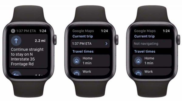 Google Maps pour Apple Watch