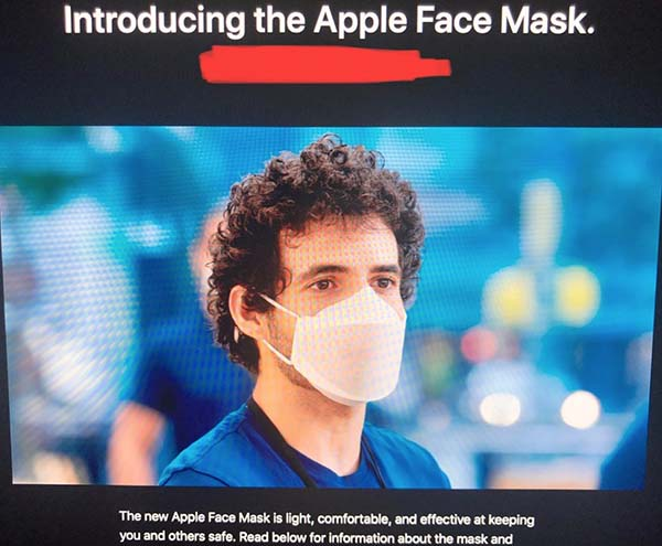 masque protection Apple