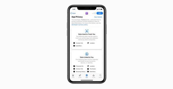 Apple App Store Connect Confidentialite