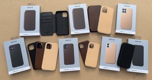 Coques cuir Nomads iPhone 12 Mini Pro Max