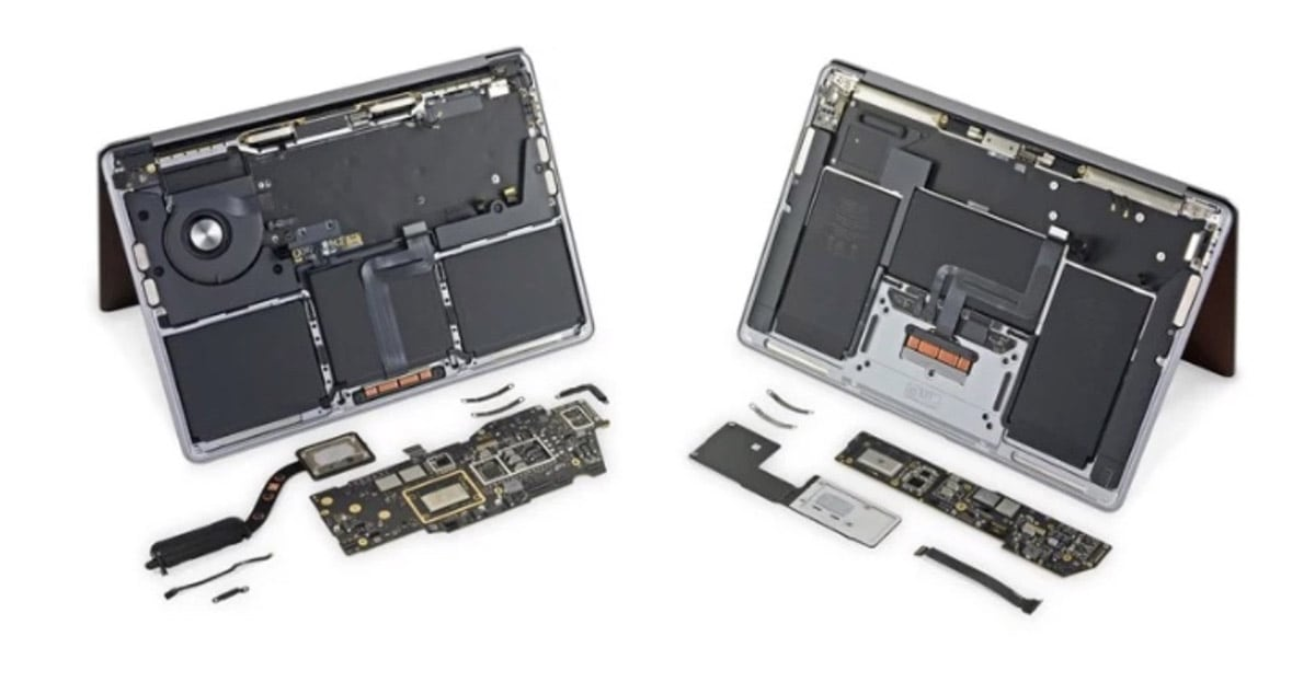 Demontage Macbook M1 Ifixit 2