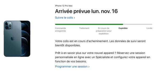 iPhone 12 Pro Max Expédition