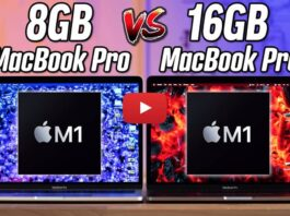 Performances Macbook Pro M1 8go Vs 16go Ram 4