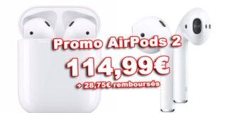 Promo Airpods 2 Boulanger