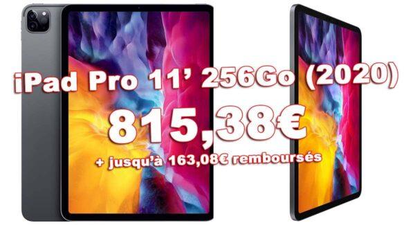 Promo iPad Pro 11 256Go 2020