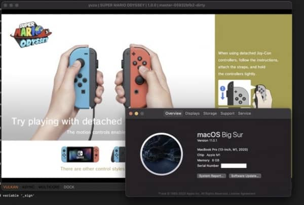 Jeux Nintendo Switch Mac M1